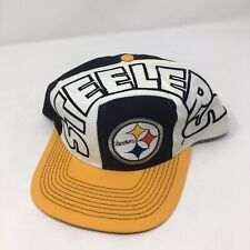 Vintage Pittsburgh Steelers Big Logo Spellout Snapback One Size NFL Hat Cap