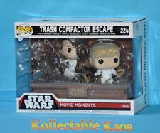 Funko Pop Star Wars Movie Moments Trash Compactor Escape 224 Leia Luke Skywalker