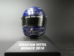 Minichamps 1:8 Sebastian Vettel helmet F1 Monaco GP 2010 381100205