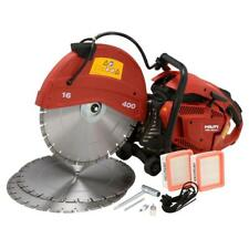 Hilti Gas Saw w Blades Hand Held Cutting Brick Concrete Block 900X 90Cc 16 in.