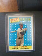 1958 Topps #482 Earnie Banks All Star. VG/EX+