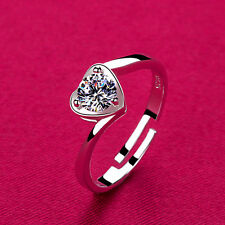 925 Sterling Silver Heart Solitaire Finger Stack Toe Ring R25