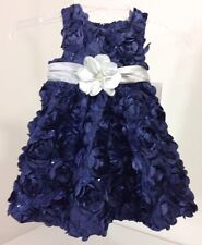 NWT Rare Editions  2 Piece Baby Girls Floral Soutache Dress  24M