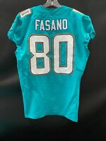 #80 ANTHONY FASANO MIAMI DOLPHINS GAME USED AUTHENTIC NIKE JERSEY YR-2017