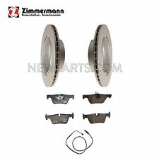 BMW F30 F32 F33 Set of 2 Rear Vented Disc Brake Rotors with Pads and Sensor OEM