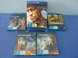 Die Hard Quadrilogy Blu Ray Box Set Bruce Willis Free Tracked
