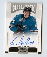 TOMAS HERTL AUTO 2013-14 CONTENDERS NHL INK SHARKS RARE AUTOGRAPH