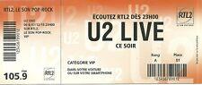 RARE / FLYER - U2 BONO : CONCERT LIVE A PARIS STADE DE FRANCE 2015