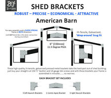 "American Barn,connection,plates,bracket,SET,garage,shed,industrial,6""C section"