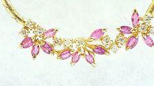 Italian 14k Yellow Gold Necklace 1.75 CTW Red Ruby & EX Diamond Pendant Jewelry