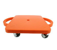 Plastic Scooter Board in Orange, 12� Inches x 12� Inches, Wide Handles