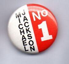 MICHAEL JACKSON NO. 1 BUTTON BADGE 80s POP - KING OF POP- BAD THRILLER 25mm Pin