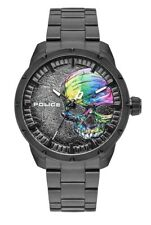 Police Neist Skull Men's Watch PL15715JSB-78M Analog Stainless Steel Black