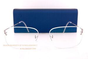 Brand New LINDBERG Eyeglass Frames Air Titanium Rimless 297 10 Grey Silver