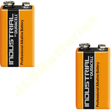 2 x Duracell 9V Industrial Batteries MN1604 6LR61 PP3 block 6LF22