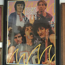 Rolling Stones - framed vintage tour poster European tour 1982