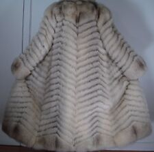 SAGA White Blue Fox Fur Coat Size 4-6 FREE SHIPPING