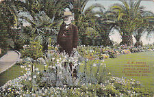 REDLANDS, CA,1912; A.K Smiley in his beautiful private grounds on Smiley Heights