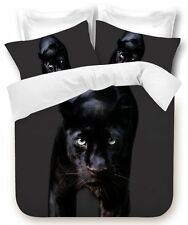 GEORGES FINE LINEN Black Panther Single Bed Size Doona Duvet Quilt Cover Set Cat