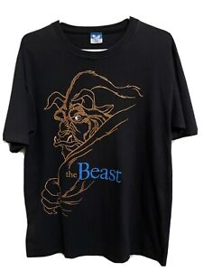 Vintage The Beast Beauty And The Beast 90s Disney Movie T Shirt
