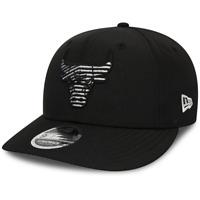 NEW ERA MENS 9FIFTY BASEBALL CAP.CHICAGO BULLS BLACK MONOTAPE FLAT PEAK HAT 9W2