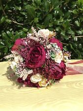 JWedding Bouquet, spring Wedding Flowers, Silk Flowers handmade lsthr