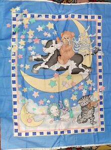 Daisy Kingdom 1992 Lucy Rigg Over The Moon Baby Quilt Panel Teddy Bears 36x44