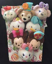 Hong Kong Disneyland Tsum Tsum Fun Fair Cake Plush Full Set Stitch Pooh Tigger