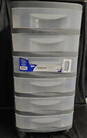 6 Drawer Organizer Cart Black Storage Container Rolling Bin local pickup only