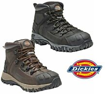 New Dickies Medway Waterproof Safety Boots Hiker Steel Toe Leather Black/Brown