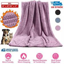 Fluffy Dog Cat Blanket Soft Warm Pet Throw Blanket For Bed Couch Sofa Car