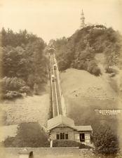 Suisse, Lucerne, le Righi gütsch, le chemin de fer  Vintage albumen print  T