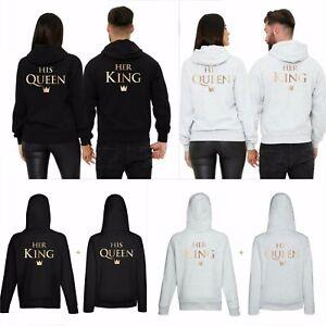 King & Queen Couple Hoodie, Beautiful Printed Unisex Adult Hoodie,Gift Present