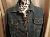 CROFT BARROW women's blue denim jean jacket sz Medium NWOT