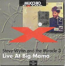 "STEVE WYNN AND THE MIRACLE 3 - RARO CD PROMO ONLY ITALY "" LIVE AT BIG MAMA """