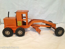 """VINTAGE TONKA TRUCK Earth Mover Scraper Construction Vehicle COLLECTIBLE 17""""LONG"""