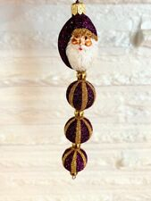Patricia Breen Kinetic Icicle Santa Claus Kinetic Icicle Purple/Gold