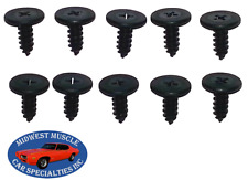 Ford Roof Rubber Weatherstrip Weatherstripping Door Window Trim Rail Screws 10pc