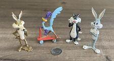 Warner Bros 1988 Metal Figures Bugs Bunny Road Runner Wile E Coyote Sylvester
