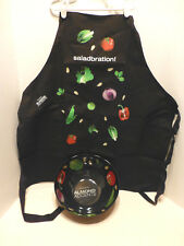 Melamine Bowl and apron Almond Accent Veggies NEW Cooking Snacks Salad Home
