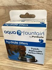 Aqua Fountain Hy-Drate 3 Pack Carbon Filters Petsafe