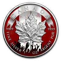 2019 $5 Canadian PATRIOTIC MAPLE LEAF 1 Oz Silver Coin..
