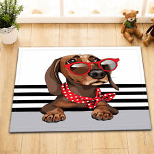 Pet Dachshund Dog Home Nonslip Floor Rug Bedroom Carpet Kitchen Doormat Bath Mat