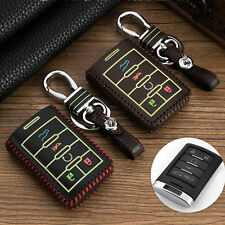 Genuine leather car key case for Cadillac SLS XTS ATS CTS SRX 5 Buttons