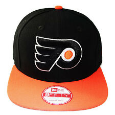 New Era NHL Philadelphia Flyers Classic Orange Black Snapback Hat 2 Tone Color