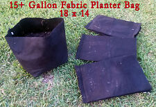 Set of 15 USED 15 Gallon Fabric Grow Bags - Size 18x14
