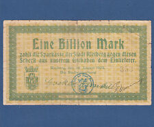 RIETBERG 1 Billion Mark 1923  IV / F