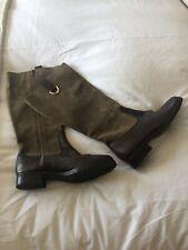 Ralph Lauren Brown Suede / Leather Knee High Boots Size 39/ Uk 6 VGC