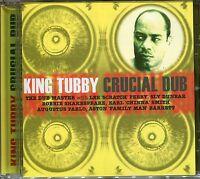 KING TUBBY CRUCIAL DUB CD - ZION DUB, WATERHOUSE ROCK & MORE
