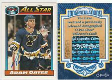 2007-08 O-Pee-Chee Autographed Buybacks #35 Adam Oates SP St.Louis Blues AS